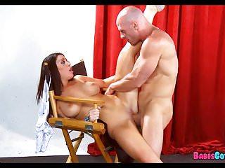 Hot Brunette loves His Long Cock