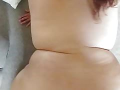 Light skinned BBW Andrea fucked from behind