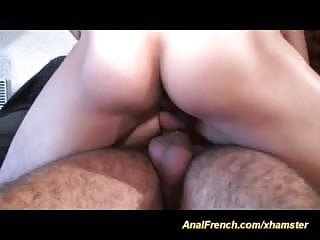 her first anal french DP