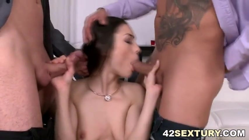 Alluring babe assfucked during spooning 9
