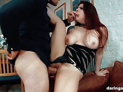 Busty Lucia Love in a submissive kinky dirty slutty roleplay