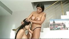 Lesbian sex between two horny latinas