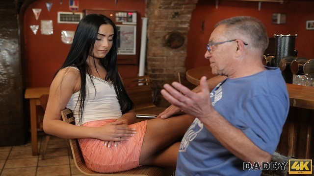 DADDY4K. Old man seduces his sons girlfriend for sex on the