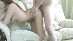 Skinny Redhead Sucks Dick And Gets Fucked