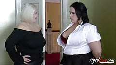 AgedLovE Busty Hotel Maid Lacey Starr Threesome's Thumb