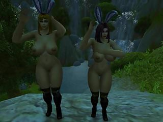 Preview 1 of Warcraft Busty Human Bunnies