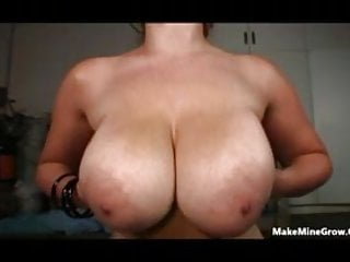Hot Chubby Blonde Gets Her Big Tits Showered