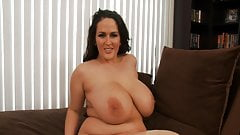 BBW Plumper Brunette Pornstar Solo Action
