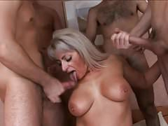 Group sex with very mature pussy