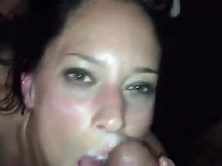 amateur white girl ass to mouth cum on face from BBC