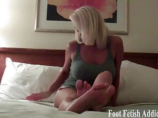 Open your mouth and taste my toes