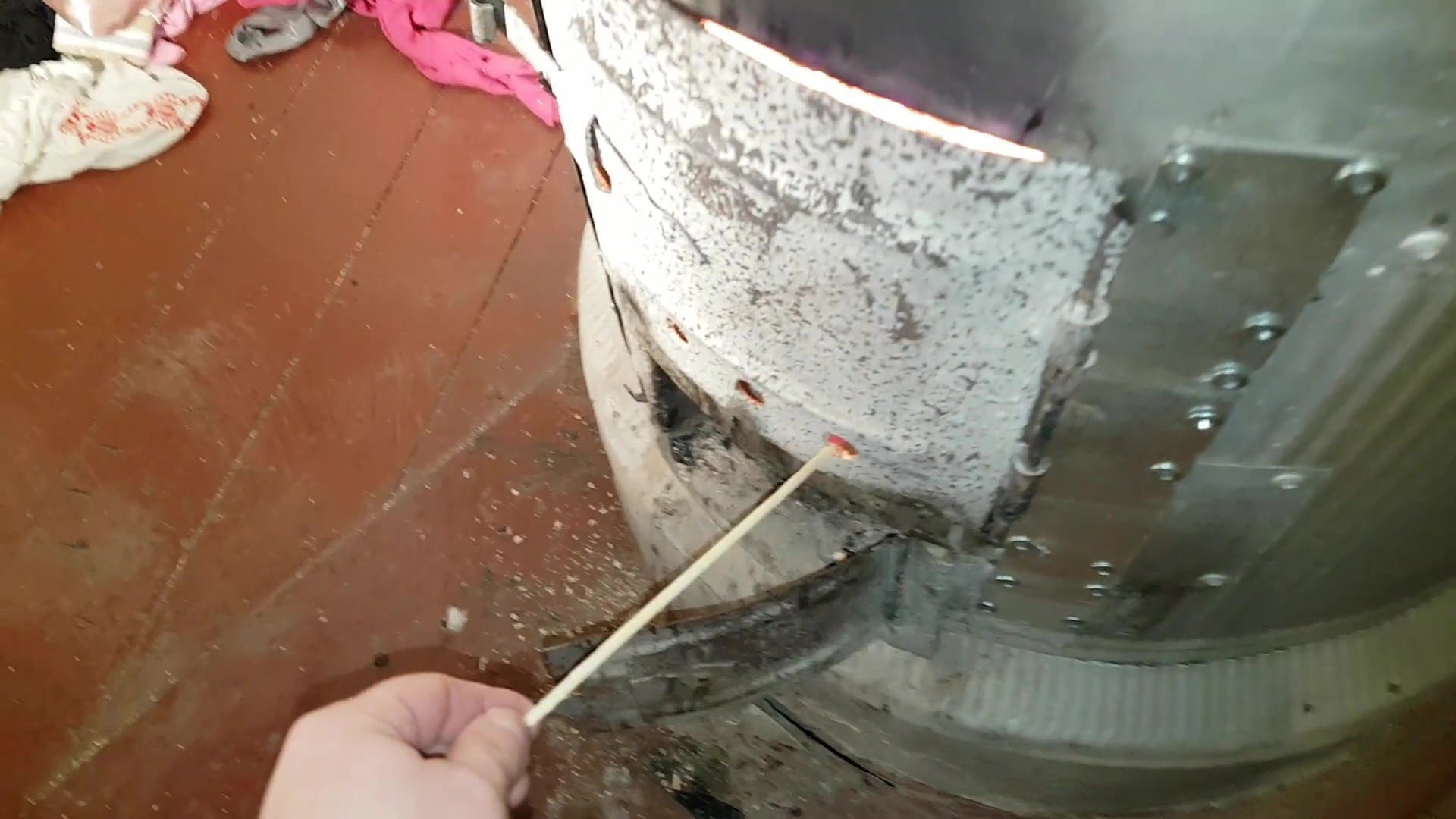 Burning satin garments