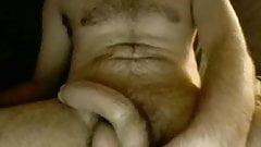 FUZZY DUDE UNCUT COCK CUM GEYSER