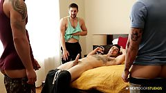 NextDoorStudios Football Jocks 4Way Hotness!