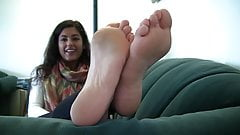 Gorgeous teen with beautiful feet