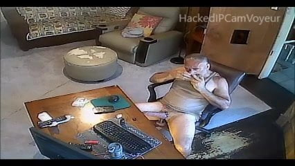 Man Caught Jacking Off on Spycam
