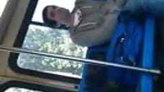spy on public Bus wanker