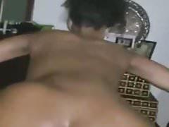 ebony booty twerking on dick