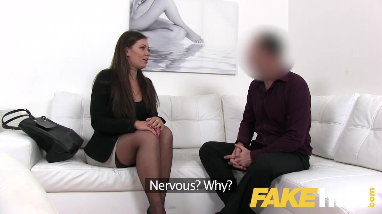 Abbie Cat bend over on couch and get vibrator fuck