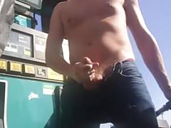At the gas station