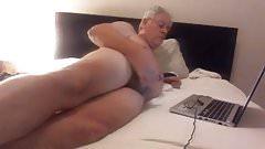 grandpa in bed
