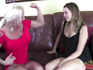 Preview 1 of Female Bodybuilder Pornstar Ashlee Chambers Toy Masturbation
