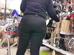 Wide Hips Latina In Tracksuit.