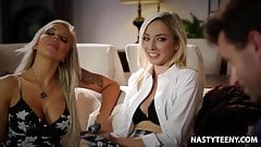 Babysitter wants to squirt! - Nina Elle and Zoe Parker's Thumb