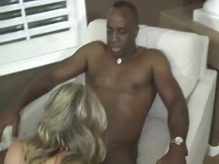 Beautiful blonde wife fucks a BBC on a pool table