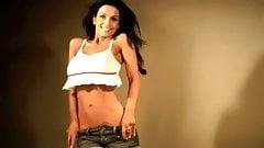 Denise Milani Sexy white Top - non nude