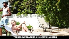TeensLoveBlackCocks - Grounded Teen Fucks Pool Boy