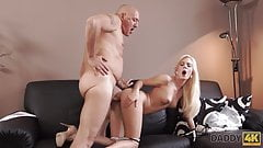 DADDY4K. Mature businessman_cums in blonde's_mouth to... porn image