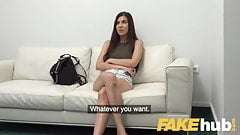 Fake Agent Deepthroating babe Anya Krey loves hard desk fuck