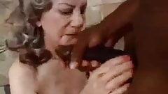 Granny enjoying having interracial Sex