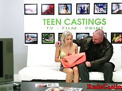 Casting teen gagged and facialized