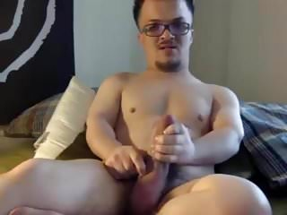Big Little Dude Big Dick Jerk Off & Self Facial Cum