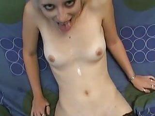 Amateur - Blond Little Tit Cutie Fuck & Suck - Sperm Drool