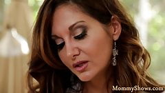 Glamcore milf seduces her stepdaughter