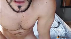 Hot daddy Mark Jhonson with nice beard loves the orgasms