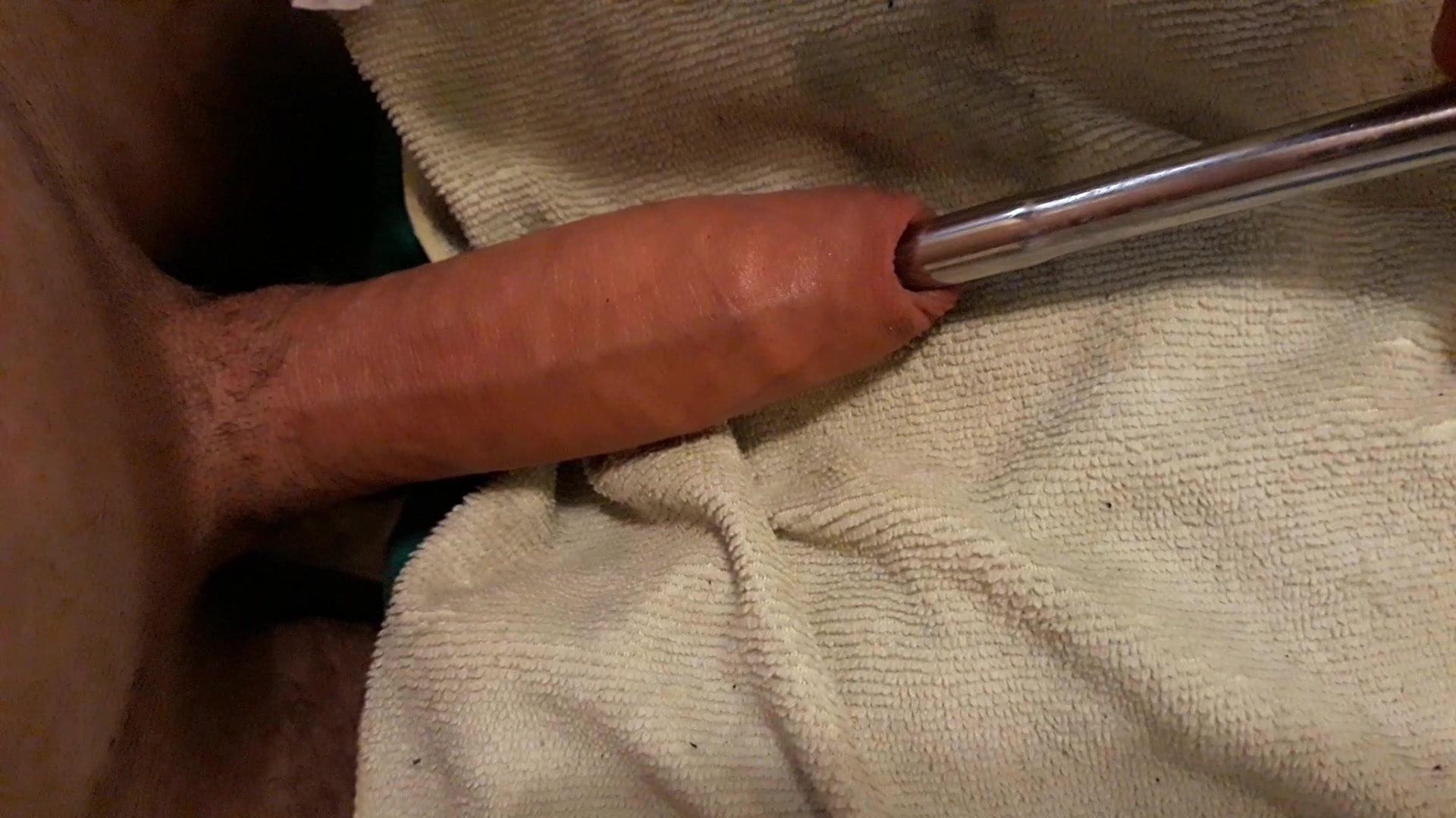 Fucking anal intercourse toy whereas sounding
