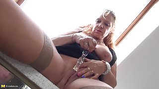 Grandma with big tits need a good sex