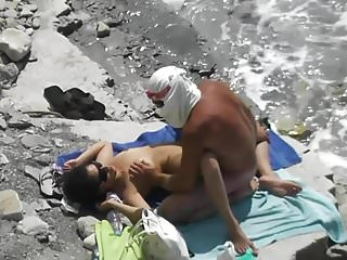 Sex on the beach. local resident and girl tourist 2