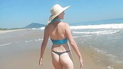 wife at the beach  (naked wife)