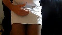Cumming in panties and slip