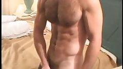 Muscular Brock Beats Off