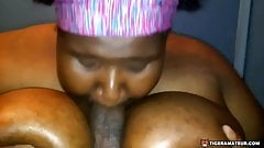 Bbw puts her tits and mouth to work