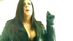 Mature in leather