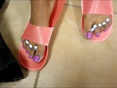 Chanel Pink Toenails