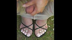 my second cum feet on my fine pantyhose 2017