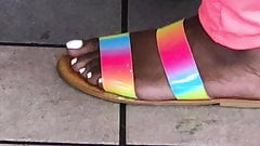 Ebony feet candids
